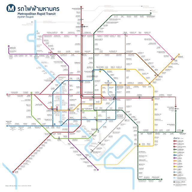 แผนผังรถไฟฟ้าในกรุงเทพมหานครและปริมณฑล เมื่อสร้างเสร็จครบทุกสาย ทั้งหมดล่าสุด 2019