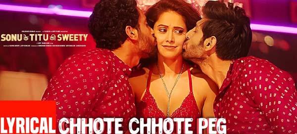 Chhote Chhote Peg Lyrics - Sonu ke Titu ki Sweety