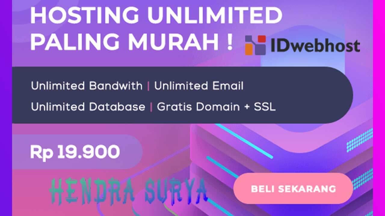 IDwebhost, Layanan Hosting Termurah Dan Terbaik Di Indonesia