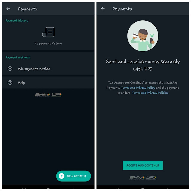 Ad WhatsApp Payments method