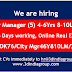 hiring City Manager(5) 4-6Yrs 8-10LPA, Mumbai. 6 Days working. 3UNOBROK76/City Mgr46Y810LM/7624120