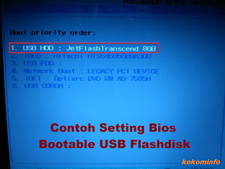 setting bios bootable usb flashdisk
