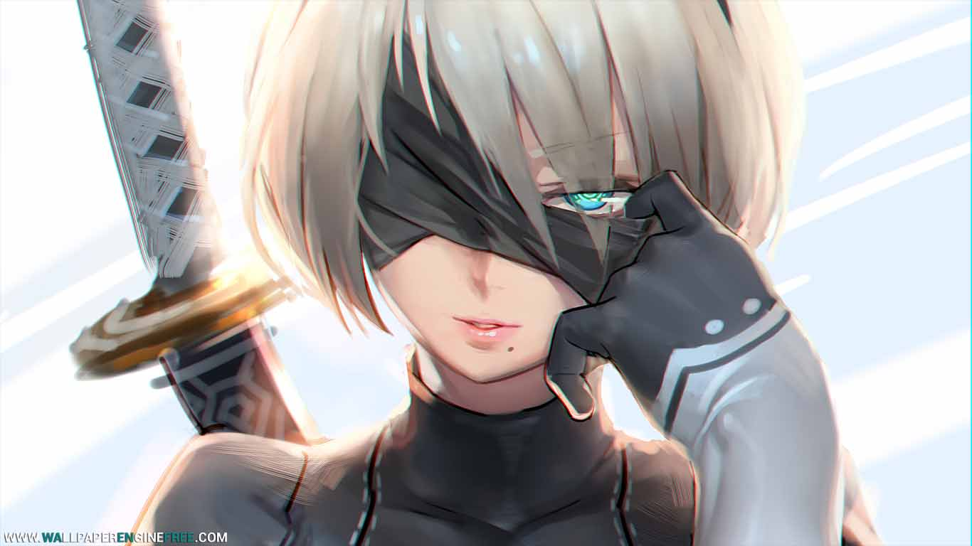 Hd wallpaper nier automata - Download Nier Automata Raindrops 1080p Wallpaper Engine Free