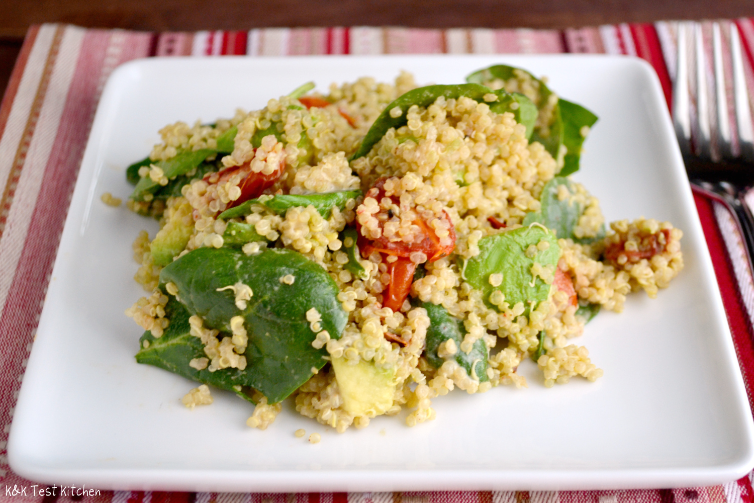 K&K Test Kitchen: Quinoa Salad with Roasted Tomatoes and ...Quinoa Salad With Avocado