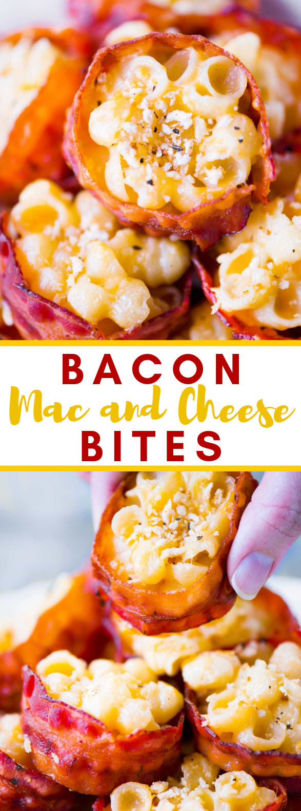 Bacon Mac and Cheese Bites #appetizer #dinner