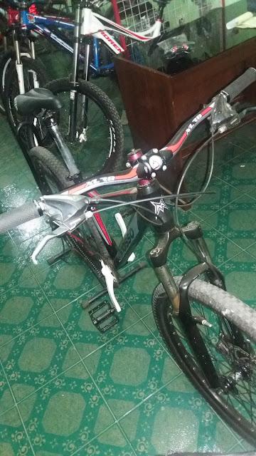 jual sepeda bekas (sepeda gunung mtb bmx road  balap folding lipat) merk merek mosso3 tampak depan