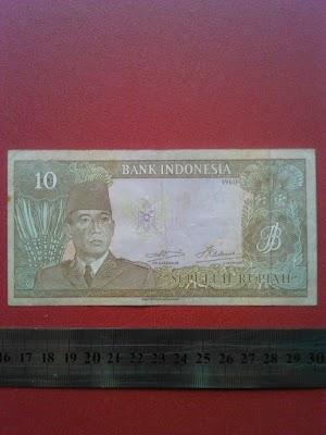 10 rupiah tahun 1960