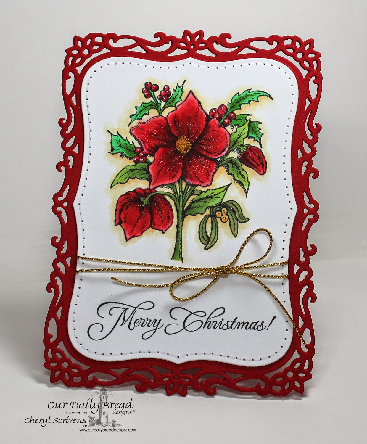 Our Daily Bread Designs, ODBDSLC217, Christmas Rose, Gift of God, CherylQuilts, Designed by Cheryl Scrivens