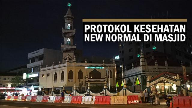 Protokol kesehatan new normal ketika salat di masjid