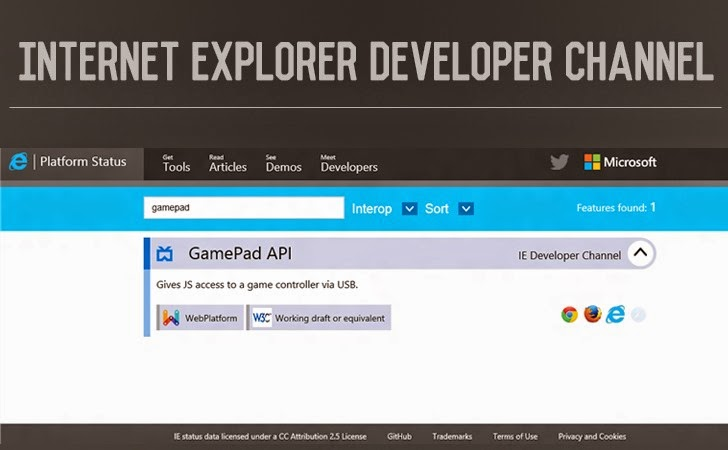 Internet Explorer Developer Channel - Early Access to Next-Generation Features For Developers
