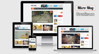 Micro Mag: Template Blogger Khusus Review & Majalah