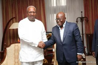 Mahama and Akufo-Addo  Sign Peace Pact Ahead of Polls