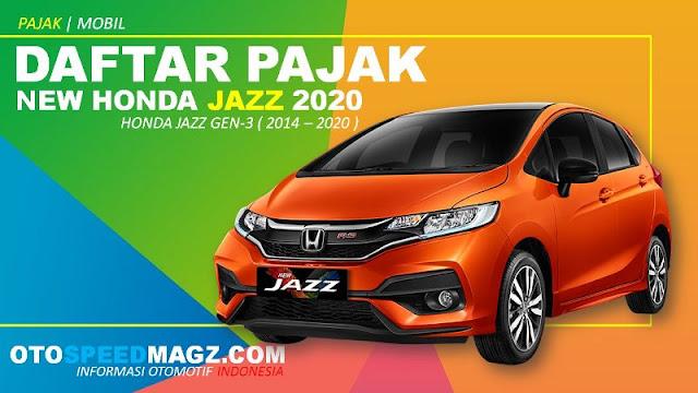 Daftar Pajak New Honda Jazz 2020