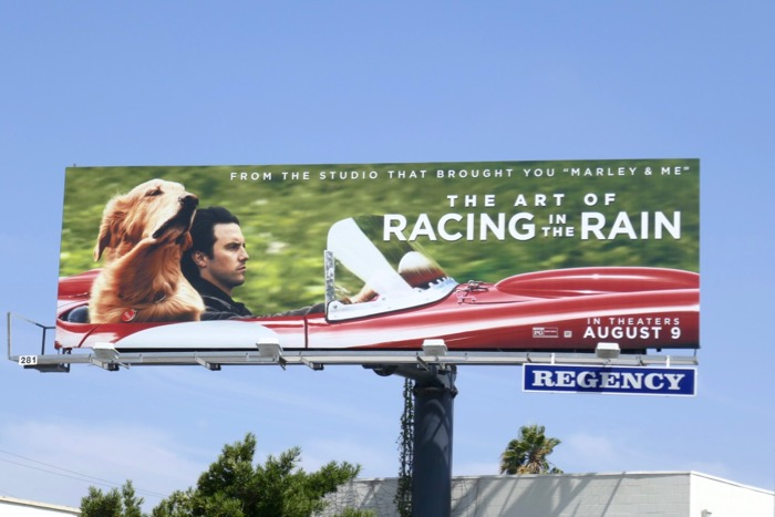Art of Racing in Rain film billboard