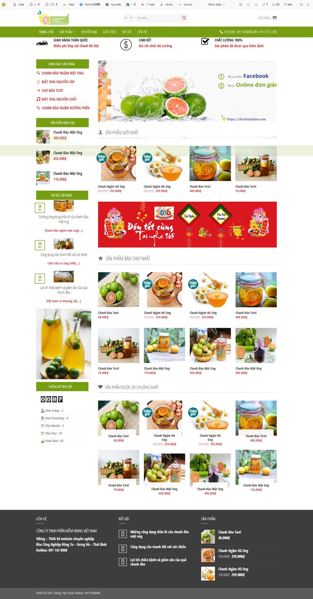 BÁN HÀNG 066 - hoa quả, thực phẩm