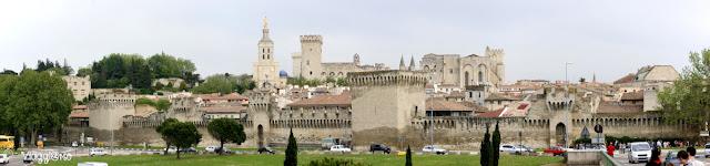 Panorama della città di Avignone