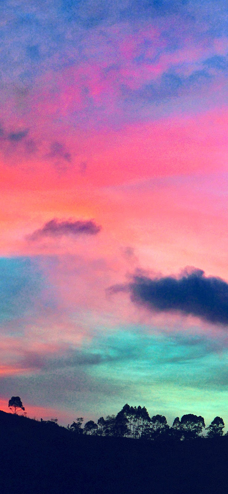papers.co ng96 sky rainbow cloud sunset nature blue pink 41 iphone wallpaper