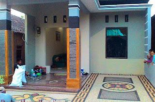 Gambar Foto Desain Motif Batu Sikat Carport