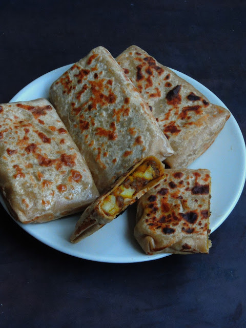 Potato & Minced Meat Paratha