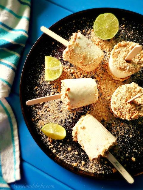 Pay de Limón Paletas - lacocinadeleslie.com