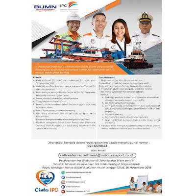 Lowongan Kerja PT Pelabuhan Indonesia II | Lowongan BUMN
