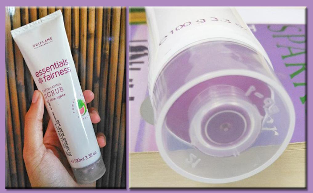 Cara memakai scrub oriflame,essentials fairness exfoliating scrub