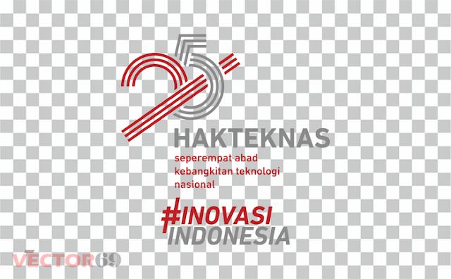 Logo Hakteknas ke-25 Tahun 2020 - Download Vector File PNG (Portable Network Graphics)