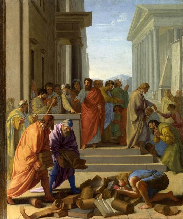 Eustache Le Sueur - Saint Paul preaching at Ephesus