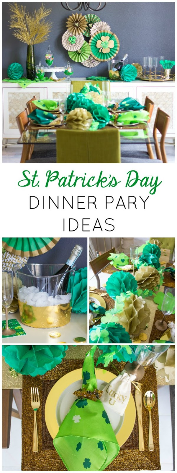February Dinner Party Ideas Part - 16: How To Create An Elegant, Yet Simple St. Patricku0027s Day Dinner Party!