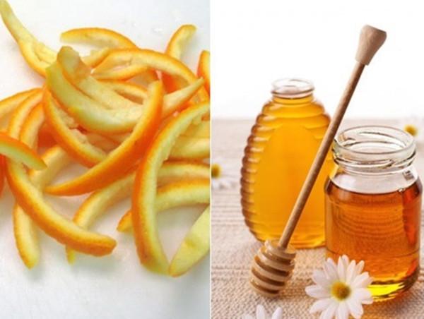 Vỏ cam mật ong chữa trị nám da
