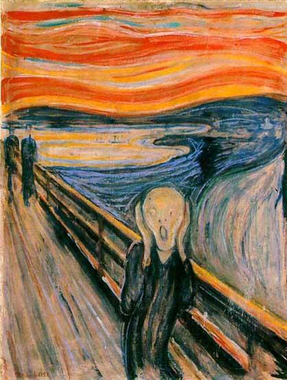 """""""O Grito"""", de Edvard Munch - 1893"""