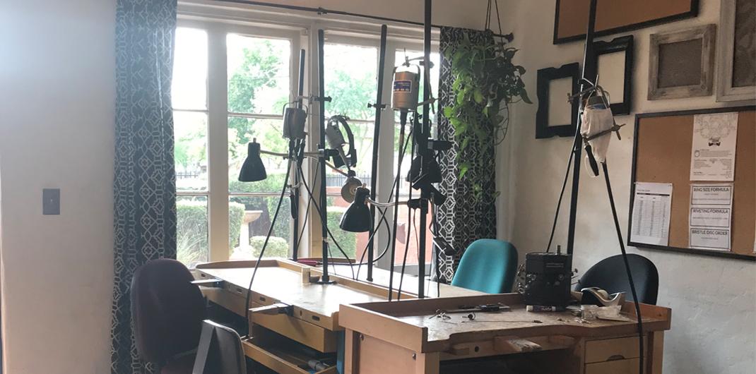 Harold Studio's work benches