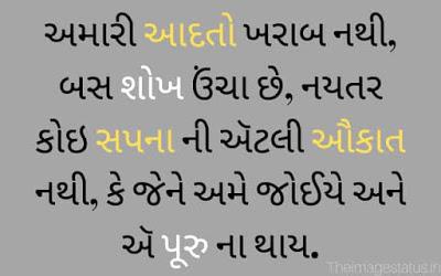 Attitude Status In Gujarati