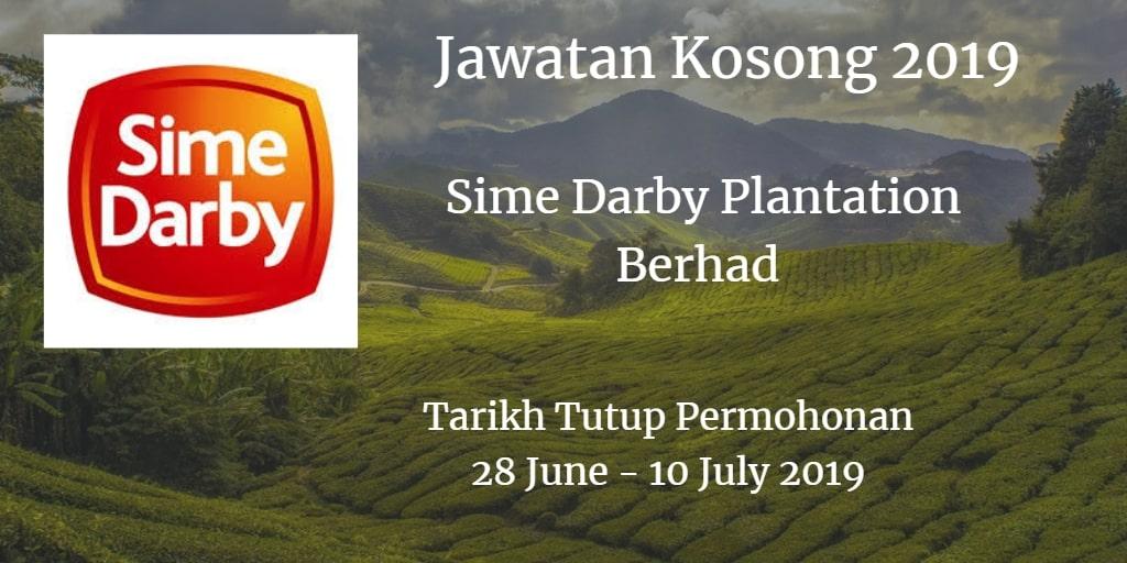 Jawatan Kosong Sime Darby Plantation Berhad 28 June - 10 July 2019