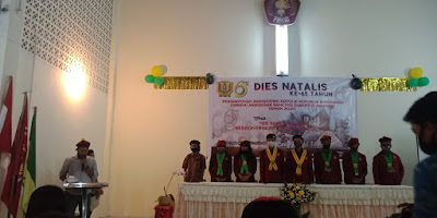 Perhimpunan Mahasiswa Katolik Republik Indonesia (PMKRI) Cabang Makassar Sanctus Albertus Magnus merayakan Dies Natalis ke-65 Tahun