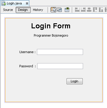 Tutorial Membuat Login Form Sederhana Dengan Java Menggunakan NetBeans IDE