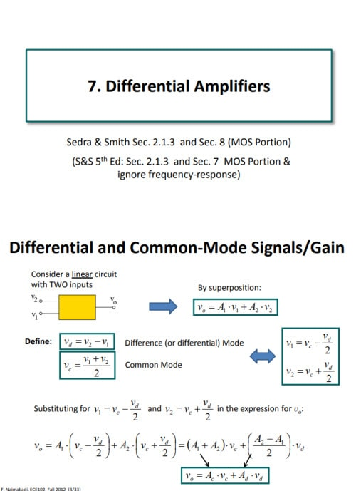 Differential Amplifier pdf