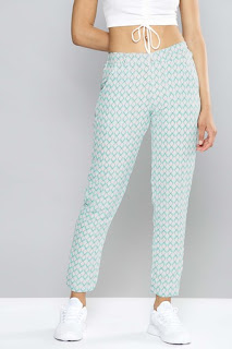 Nush Womens 2 Pocket Printed Pants