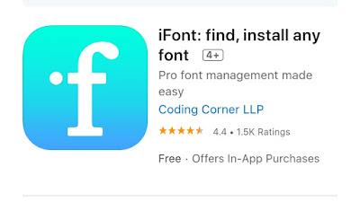 Aplikasi iFont