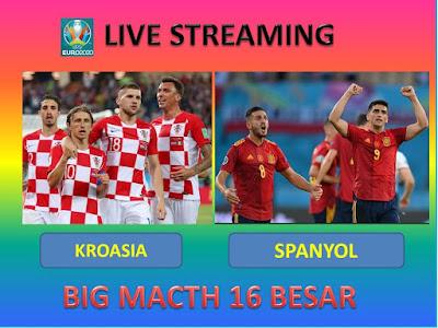 Link Live Streaming Euro 2020 KROASIA VS SPANYOL Berlangsung Di Stadion Parken