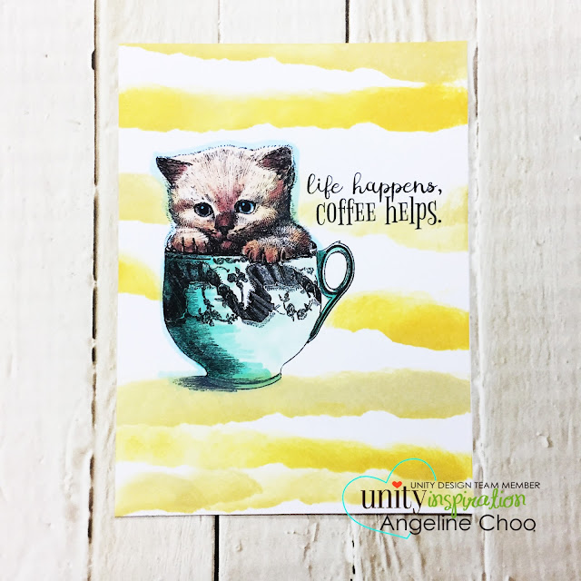 ScrappyScrappy: Unity Stamp Blog Hop with Graciellie Designs #scrappyscrappy #unitystampco #gracielliedesigns #stamp #stamping #quicktipvideo #processvideo #youtube #craft #crafting #scrapbook #scrapbooking #kittystamp #coffeestamp #timholtz #distressoxideink #copicmarkers