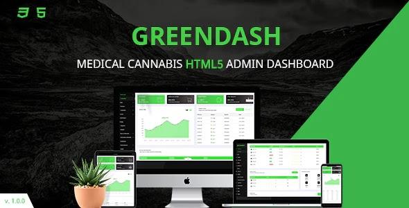 Cannabis Responsive Admin Dashboard Template