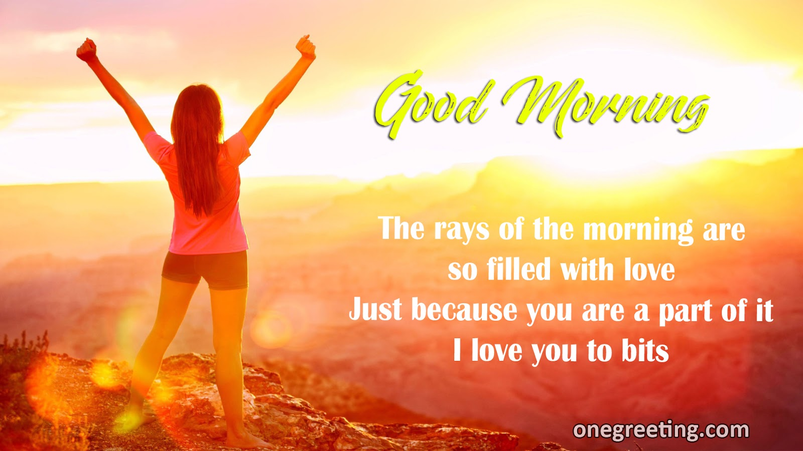 The rays of the morning are so filled with love good morning one the rays of the morning are so filled with love good morning kristyandbryce Images