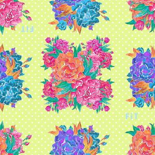 Peony square-flower repeat 7045