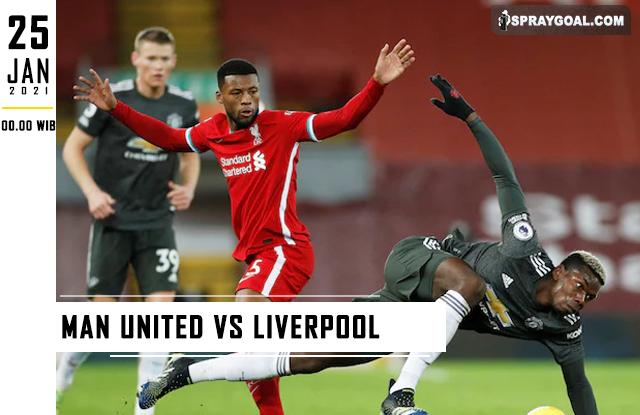 Prediksi Skor FA Man United Vs Liverpool Senin 25 Januari 2021