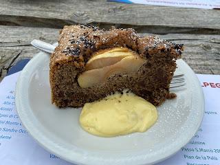 Rifugio Grassi - buckwheat, chocolate, pear cake.