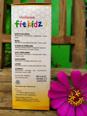 kandungan utama Madurasa Fitkiz berbahan alami