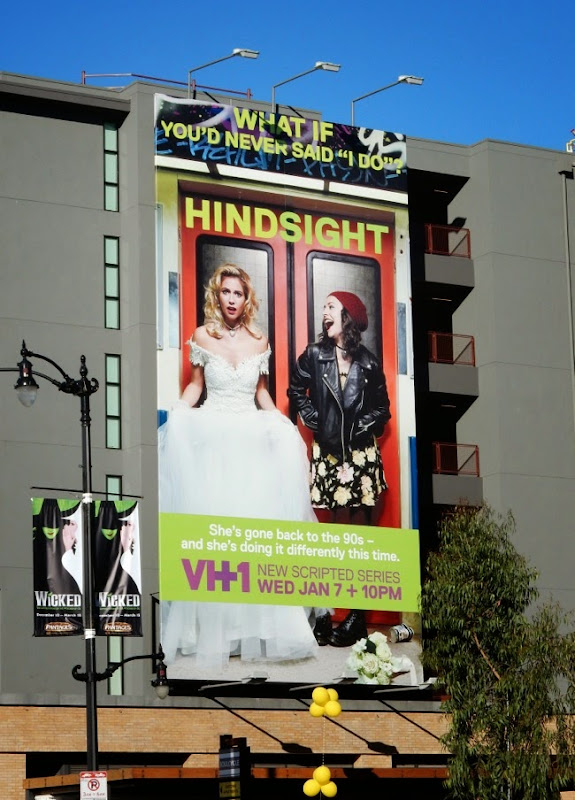 Hindsight series premiere billboard