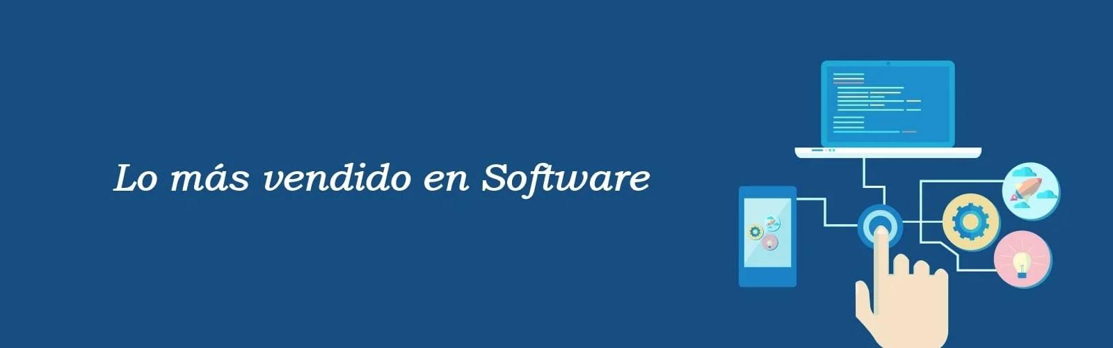 lo más vendido en software