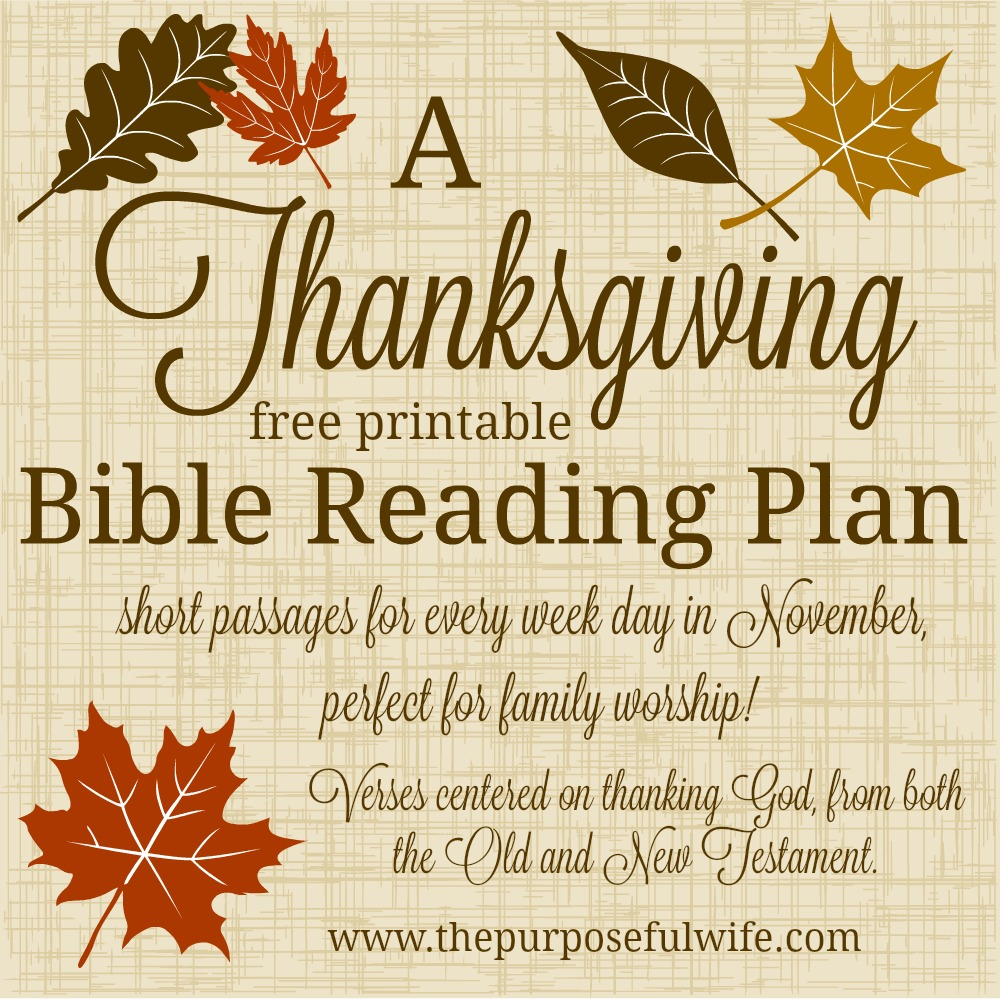 Best Thanksgiving Quotes From Bible: A Bible Reading Plan For Little Ones {Thanksgiving}